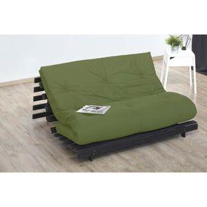 FUTON Matelas futon 140x190 pistache - 5 couches de ouat