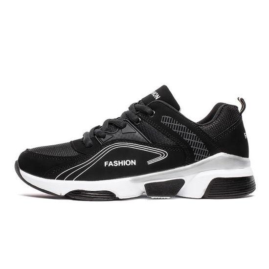 Basket Chaussures De Course À Pied Pour Hommes Noir Noir - Achat / Vente basket