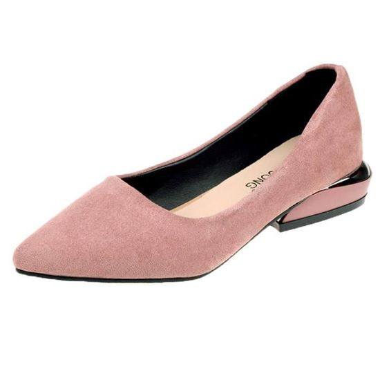 Femmes Fashion Pointed Toe Flat Ballet Shallow Shoes Slip On Casual Shoes  Rose_XZ*7648 Rose Rose - Achat / Vente slip-on