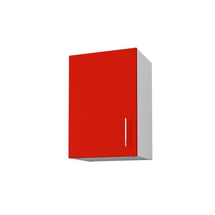 obi meuble haut de cuisine l 40 cm rouge mat. Black Bedroom Furniture Sets. Home Design Ideas