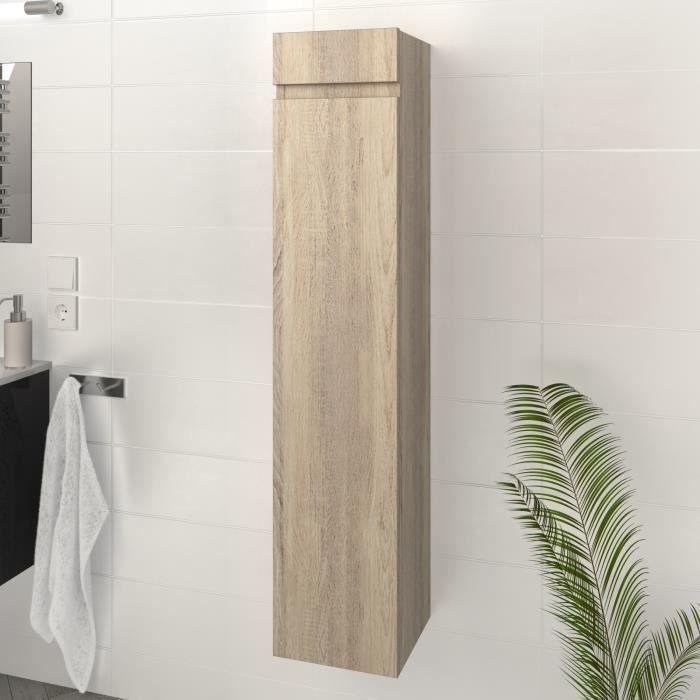 LUNA / LIMA Colonne de salle de bain L 25 cm - Décor chêne sonoma