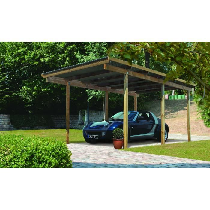 Carport Simple Eco 1 - toiture incluse 14,90m²