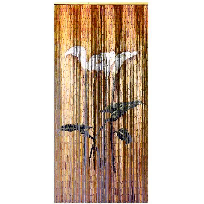 Rideau de porte - 90x200 cm - fleurs d'Arum
