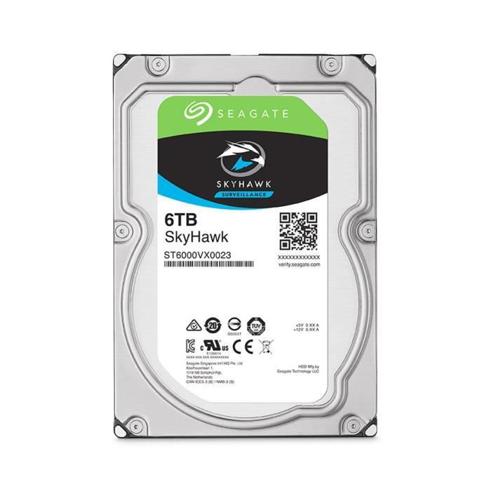 Seagate Surveillance HDD SkyHawk 6To 3,5