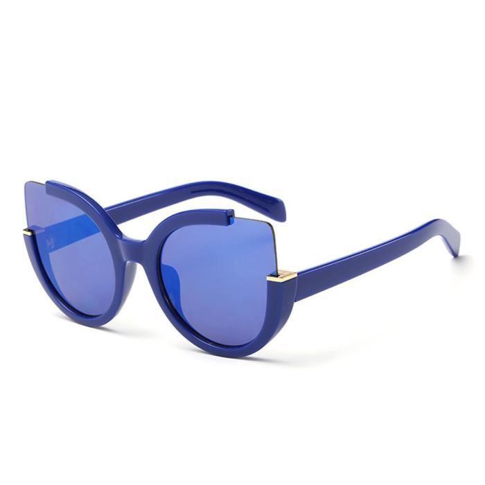 YKS fashion Chat bleu lunettes de soleil oeil personnalité C4 ... 88add09ba8a2