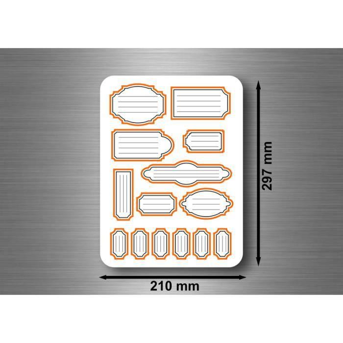 sticker autocollant etiquette rangement bocaux confiture conserves feuille a4 r4 achat vente. Black Bedroom Furniture Sets. Home Design Ideas