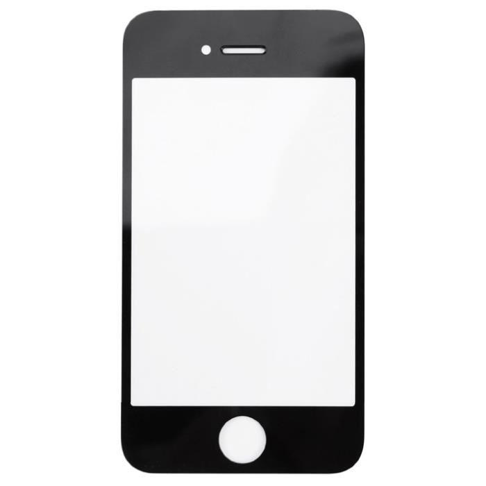 vitre avant de remplacement pour iphone 4 noire achat ecran de t l phone pas cher avis et. Black Bedroom Furniture Sets. Home Design Ideas