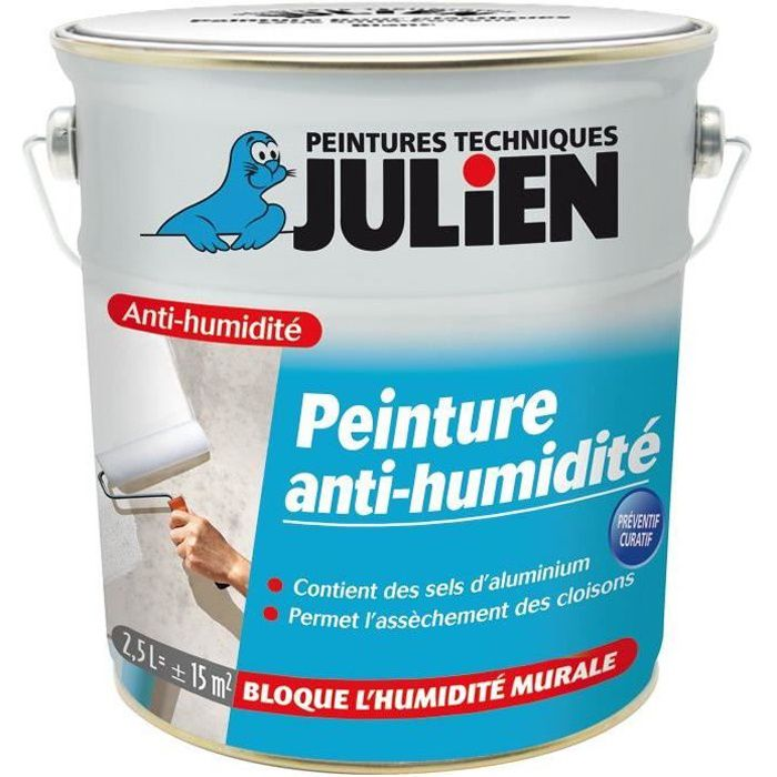 Peinture Anti-Humidité Julien - Bidon 2,5 L - Achat / Vente