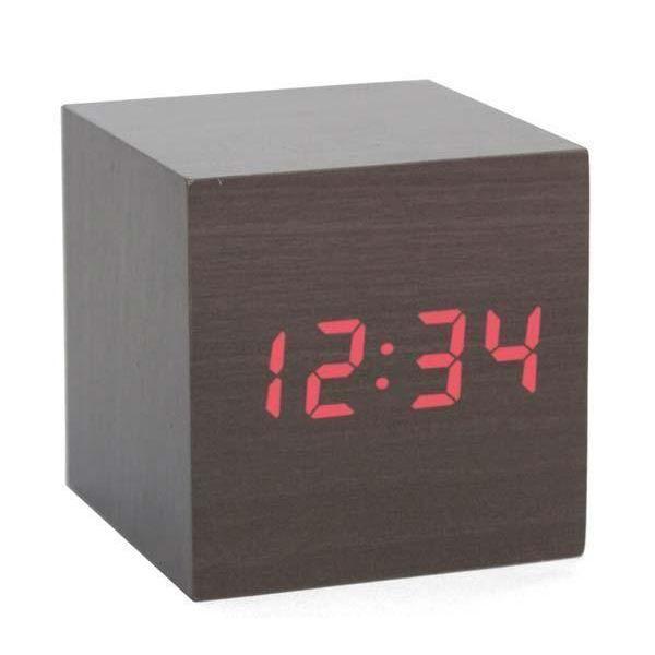 horloge r veil en bois affichage led achat vente horloge bois cdiscount. Black Bedroom Furniture Sets. Home Design Ideas