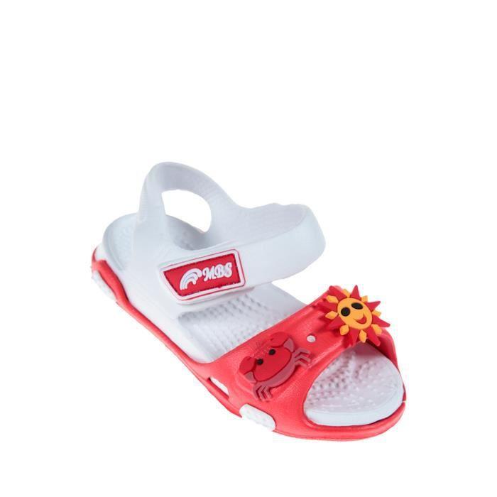 Napoulen®Bébé filles garçon d'été doux semelles anti-dérapantes Chaussures sandales ROUGE-XPP2017320 hS68z