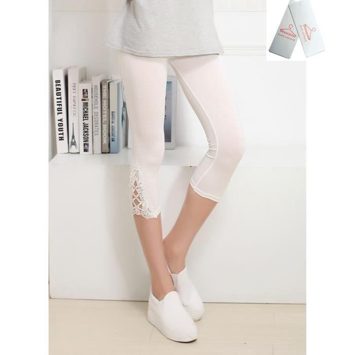 Legging court blanc - Achat   Vente pas cher a7202c42a74
