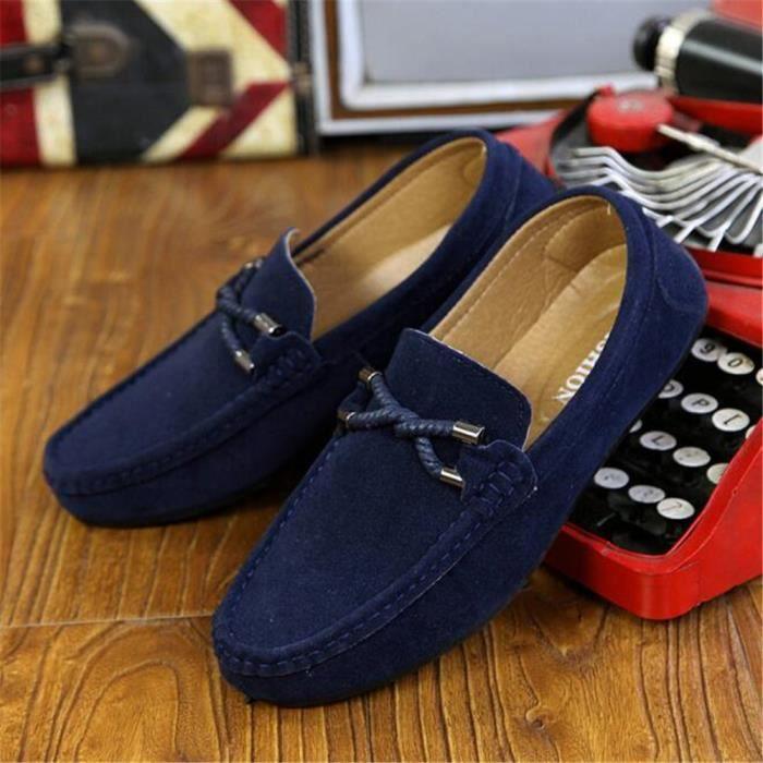 homme haussures Meilleure Qualité De Marque De Luxe Loafer Hommes En Cuir  Poids Léger Nouvelle Mode Moccasin Grande 9aae21d251c4