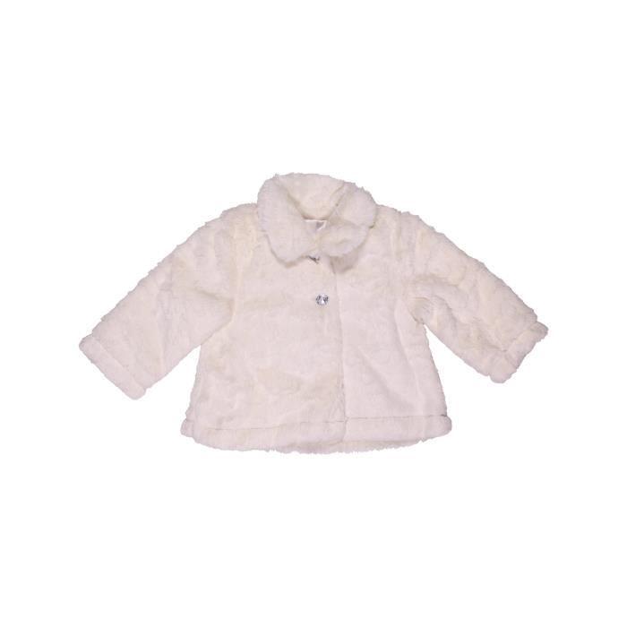 c0e4927038002 Manteau bébé fille GEMO 6 mois blanc hiver - vêtement bébé  1004316 ...