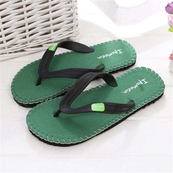 Hommetongs sandale Haut qualité marque pantoufle tongues chaussures de plage hommes Plus Taille 40-44 meilleure qualité Pantoufle NYUWPisx1
