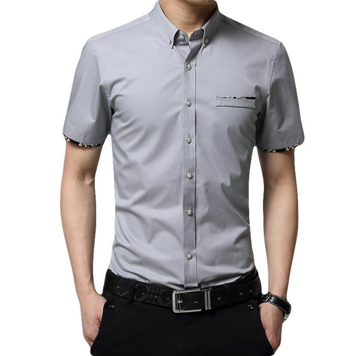 3749345aa6d Chemise hommes de marque luxe pas cher Jacquard slim de chemise ...