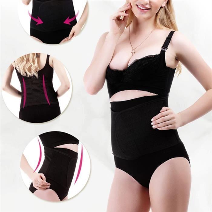 4cc2d96aa49f6 Ceinture de taille à ceinture Post-partum bande de ventre de protection de  récupération Classeur abdominale pour femmes