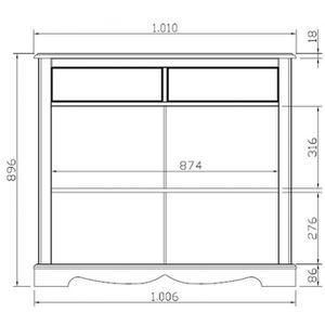 meuble miel et blanc achat vente pas cher. Black Bedroom Furniture Sets. Home Design Ideas
