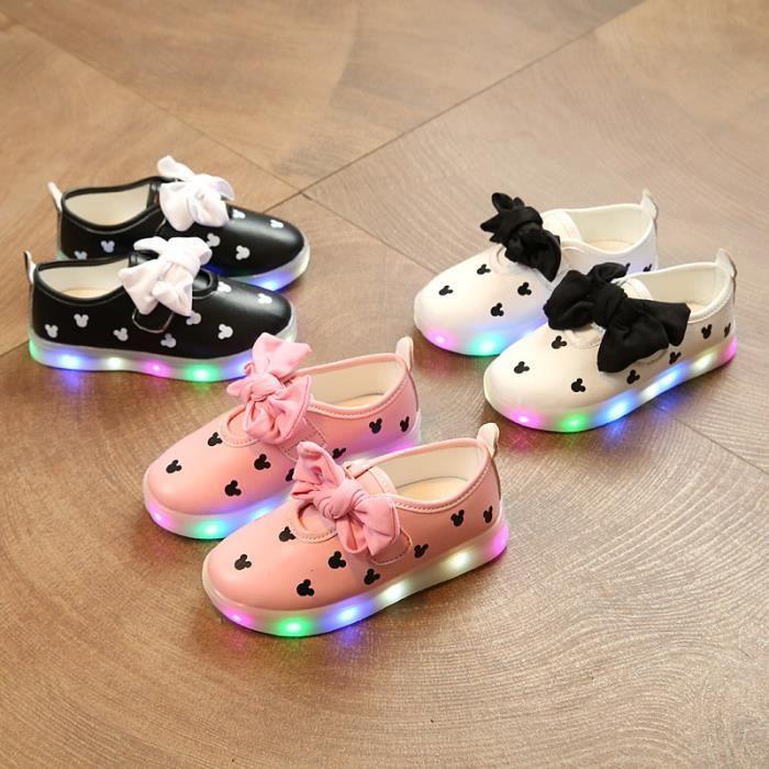 baskets les pour pour conduit enfants LED chaussures Bébé filles ont enfants lumières gSwT8nqt