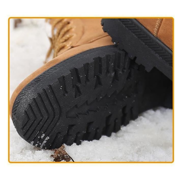 Antiglisse à lacets Bottes de neige pour les femmes, Kaki