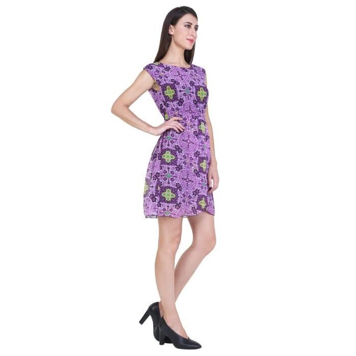 Womens Georgette Solid Mini Dress ForTVP4B Taille-36