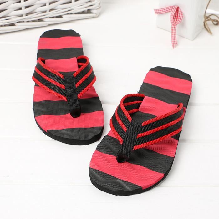Sandales d'été pour hommes Pantoufles d'intérieur extérieures Flip-flops Chaussures de plage LJJ80309874RD rouge xr3uq