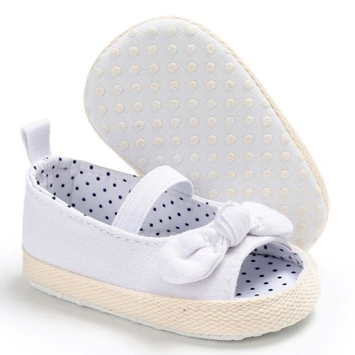 BOTTE Bébé nourrissons enfants fille douce semelle enfant nouveau-né sandales chaussures@BlancHM