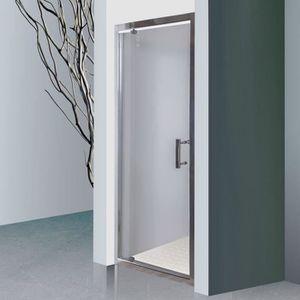 CREAZUR Porte pivotante Nerina 80 cm avec cadre en aluminium