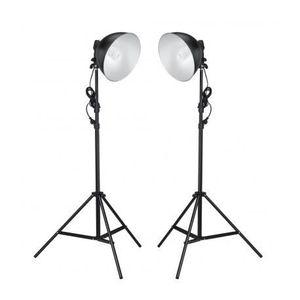 KIT STUDIO PHOTO Lampes réflecteur photo 45 W avec trépieds