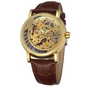 Forsining Hommes professionnel homme Squelette Cadran analogique montre-bracelet  avec bande de cuir Fsg8121 m3g1 82ffe24d3dc