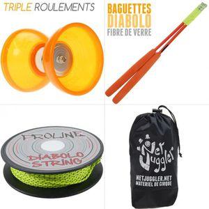 DIABOLO JUGGLE DREAM - Diabolo Quartz V2 Orange + Baguette