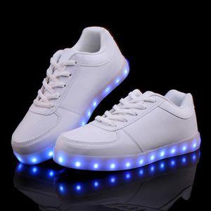 version améliorée de chargement USB Chaussures Led multicolore clignotant Sneaker 88ZrPa