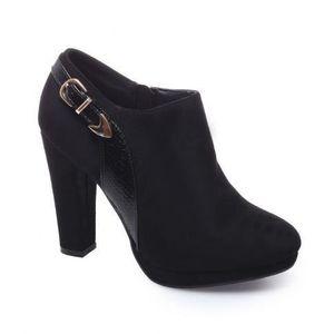 BOTTINE Low boots à talon noir