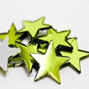 DÉCORATION DE TABLE Lot de 100 étoiles de décoration miroir coloris Me