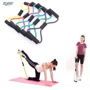 ELASTIQUE DE RÉSISTANCE Bande Résistance Set (5) Exercice Yoga Aérobic Fit  ... a62a676966b