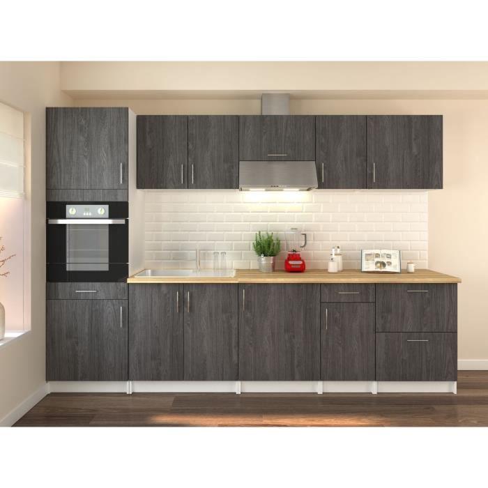 obi cuisine compl te l 3m avec colonne d cor teck marine. Black Bedroom Furniture Sets. Home Design Ideas