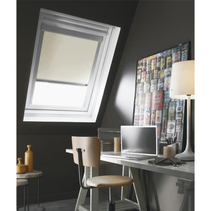 Store de fenêtre de toit occultant VELUX C02/C04 - L.55 x H.98 cm ...
