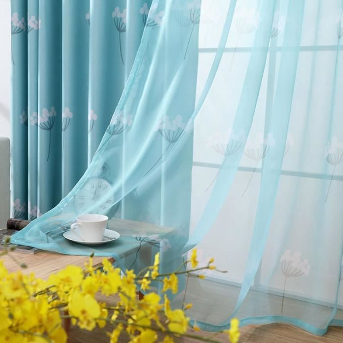 rideau pissenlit achat vente rideau pissenlit pas cher soldes d s le 10 janvier cdiscount. Black Bedroom Furniture Sets. Home Design Ideas