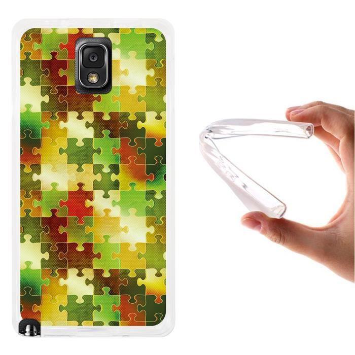 Samsung Note Flex Silicone Coque 3En TpuPuzzle Galaxy Gel TK3uFcl15J