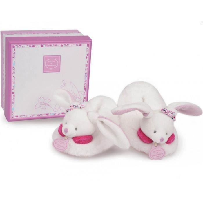 Chaussons hochet 6-12 mois : Cerise le lapin
