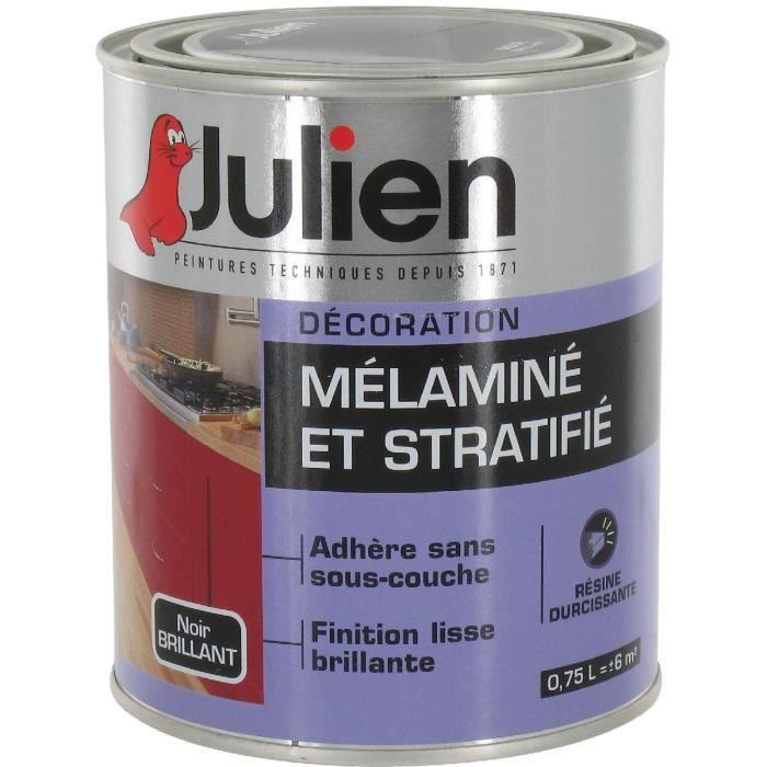peinture mélaminé et stratifié julien noir brillan - achat / vente