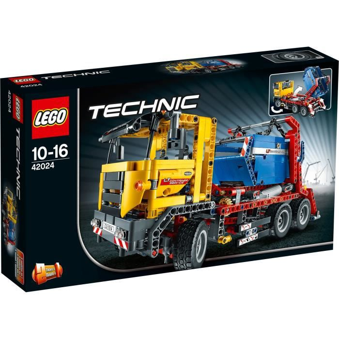 lego technic 42024 le camion conteneur achat vente assemblage construction cdiscount. Black Bedroom Furniture Sets. Home Design Ideas