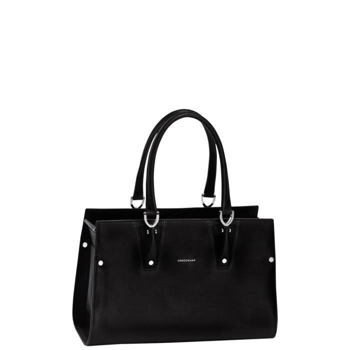 7ba3c8b7c0 LONGCHAMP - sac femme porté main en cuir - NOIR PARIS PREMIER ...