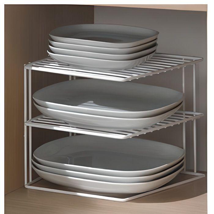 porte assiette 3 niveaux blanc achat vente range assiette porte assiette 3 niveaux cdiscount. Black Bedroom Furniture Sets. Home Design Ideas