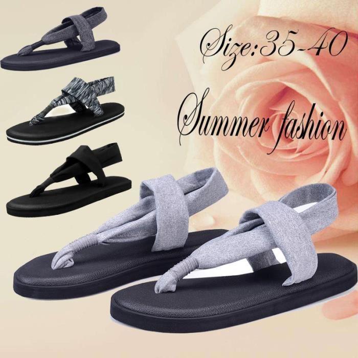 Les nouvelles chaussures d'été pour femmes simples Sandales plates en plein air