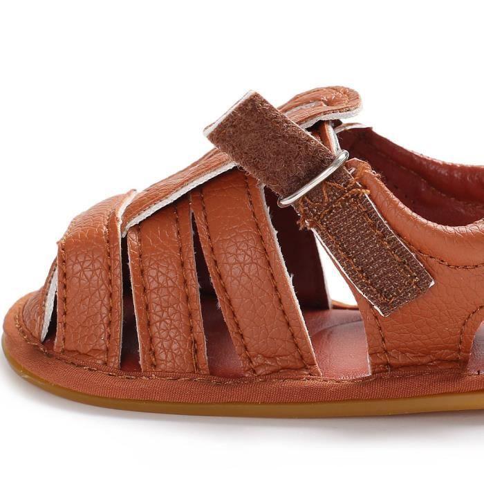78806676a3359 Bébé sandales infantile enfants fille garçon berceau Toddler nouveau-né  chaussures marron