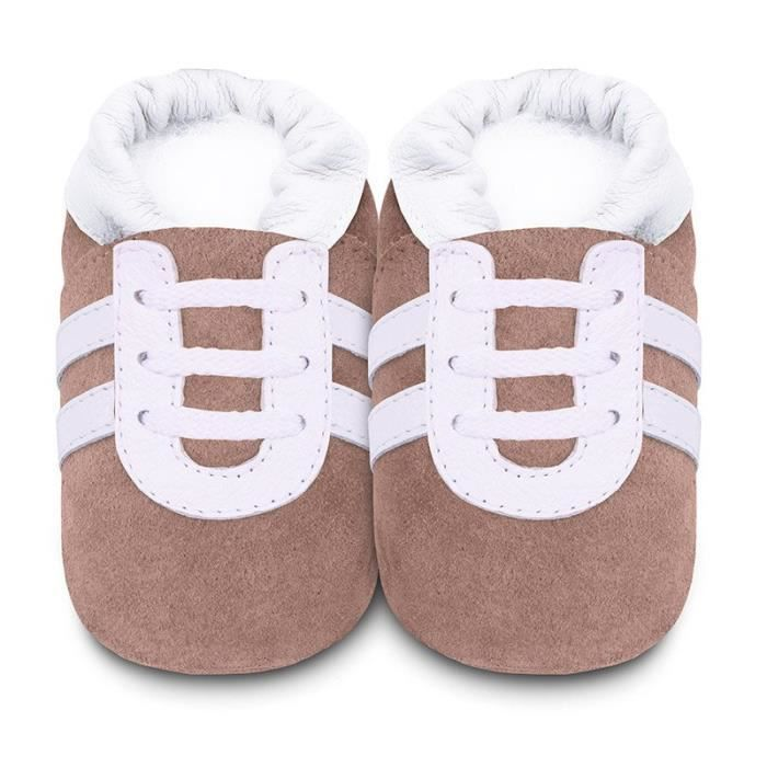 Chaussons Sport Taupe 0-6 mois