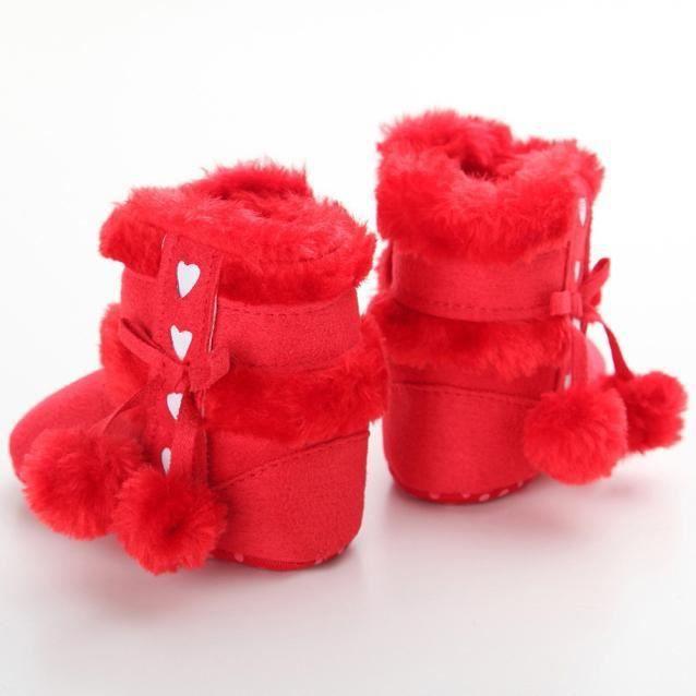 BOTTE Bottes de neige à semelles souples pour bébé Chaussures de crèche souples Bottes pour tout-petits@RougeHM