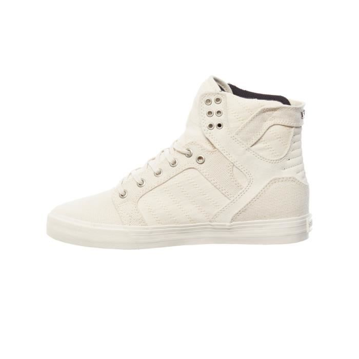Chaussure Supra Skytop Off Blanc-Off Blanc aauvIbGEr