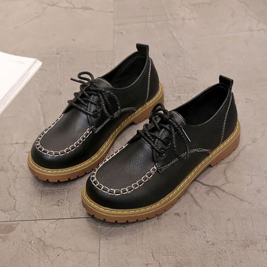 Cuir Noir Dentelle Mode Up Chaussures En Court Casual Hotskynie®mesdames Bottes Femme Ljd80810894bk35 Cheville Flat xOIpX1