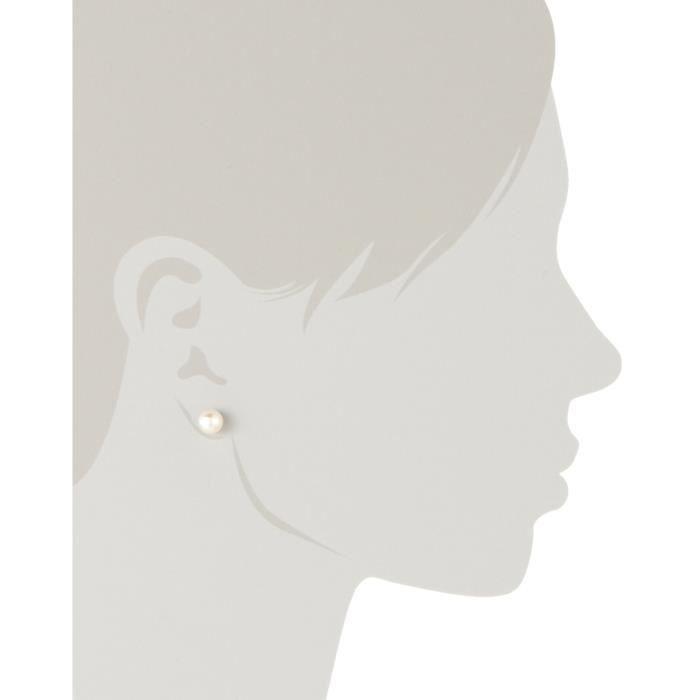 Am002 - Boucles Doreilles Femme - Argent 925-1000 Rhodié - Perles Deau Douce Q7B0U